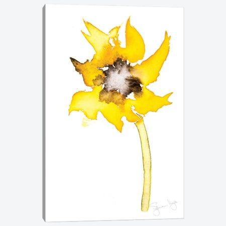 Simple Sunflower I Canvas Print #SYK149} by Syman Kaye Canvas Art Print