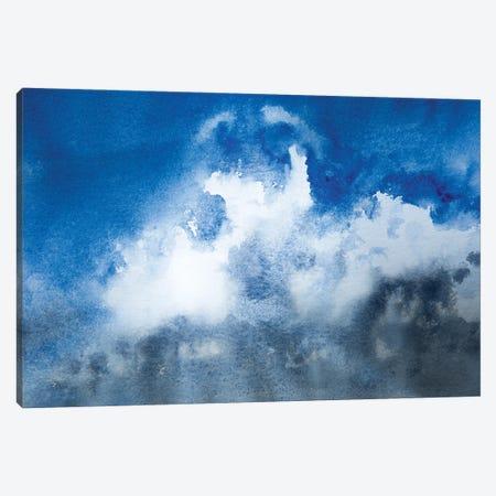 Blue Fluffy Clouds Canvas Print #SYK14} by Syman Kaye Art Print