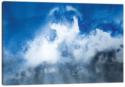 Blue Fluffy Clouds Canvas Art Print