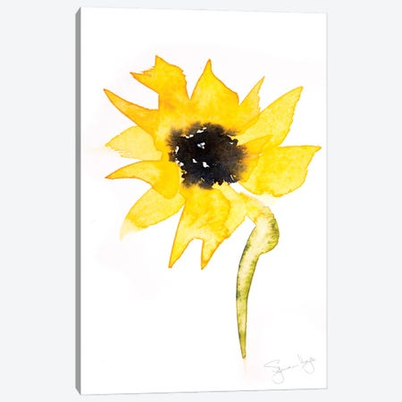 Simple Sunflower II Canvas Print #SYK150} by Syman Kaye Canvas Artwork