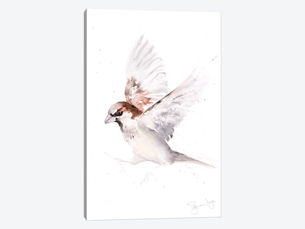 Sparrow Only A by Syman Kaye 1-piece Canvas Artwork