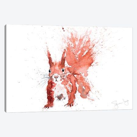 Squirrel Hazel Canvas Print #SYK158} by Syman Kaye Canvas Art