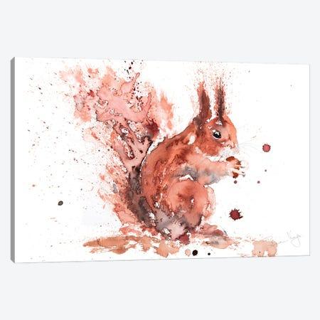 Squirrel Rusty Nuts Canvas Print #SYK159} by Syman Kaye Canvas Art