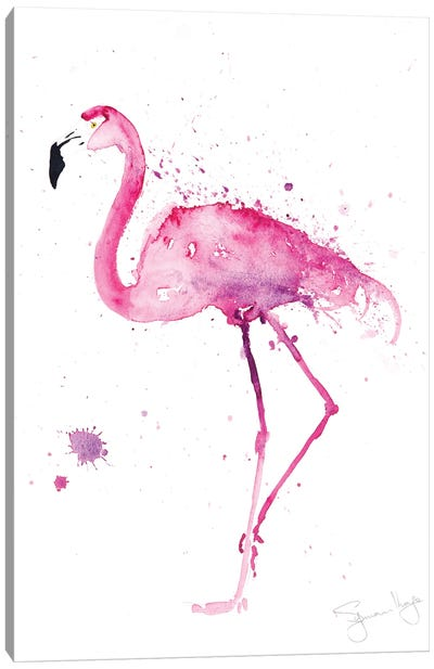Stepping Out IV Flamingo Canvas Art Print