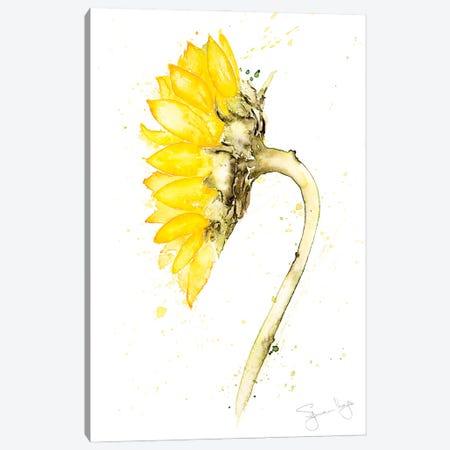 Sunflower Botanical Canvas Print #SYK162} by Syman Kaye Canvas Print