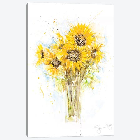 Sunflower Bunch Canvas Print #SYK163} by Syman Kaye Canvas Art Print
