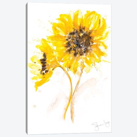 Sunflower Pair I Canvas Print #SYK164} by Syman Kaye Canvas Artwork