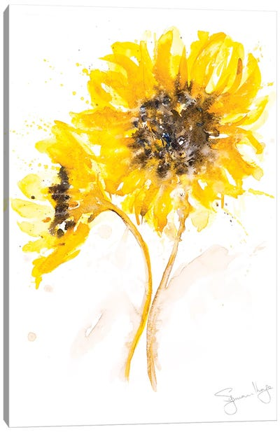 Sunflower Pair I Canvas Art Print