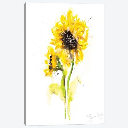 Sunflower Pair II Canvas Print #SYK165} by Syman Kaye Canvas Artwork
