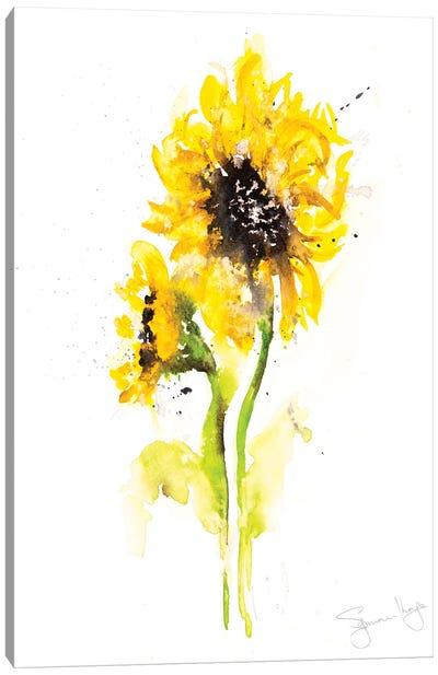 Sunflower Pair II Canvas Art Print