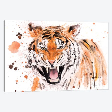 Tiger I Tiger Canvas Print #SYK167} by Syman Kaye Canvas Artwork