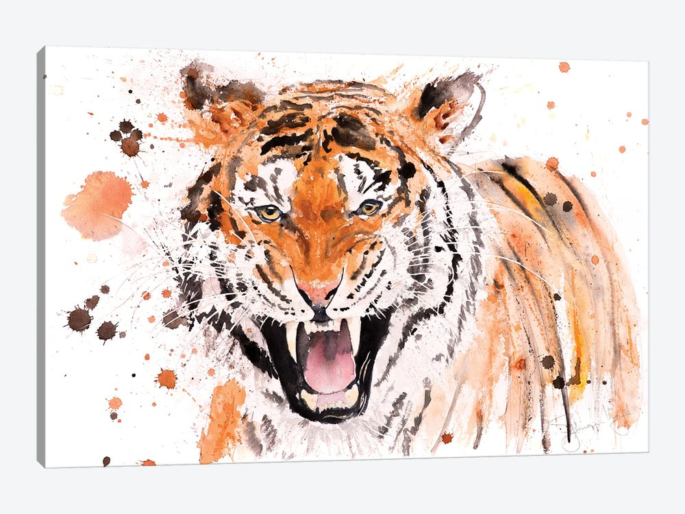 Tiger I Tiger by Syman Kaye 1-piece Canvas Art