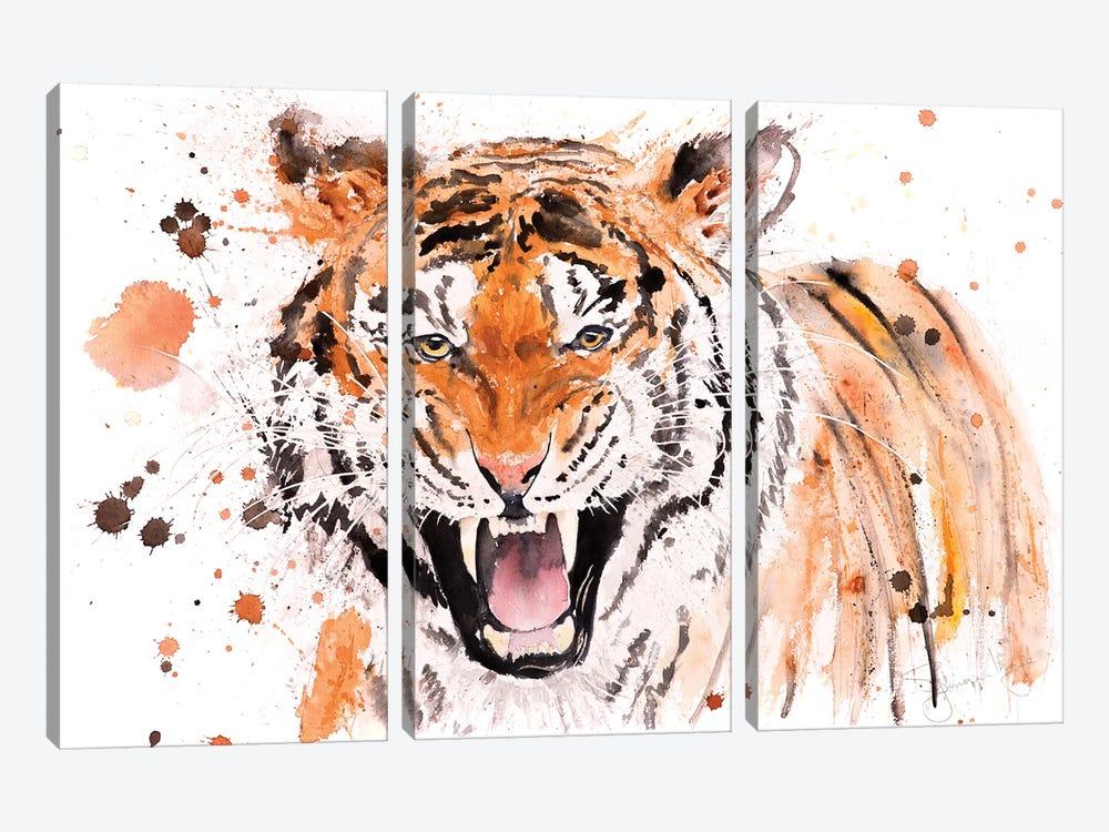 Tiger I Tiger by Syman Kaye 3-piece Canvas Art