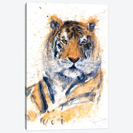 Tiger II Canvas Print #SYK168} by Syman Kaye Art Print