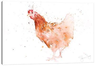 A Chicken Canvas Art Print