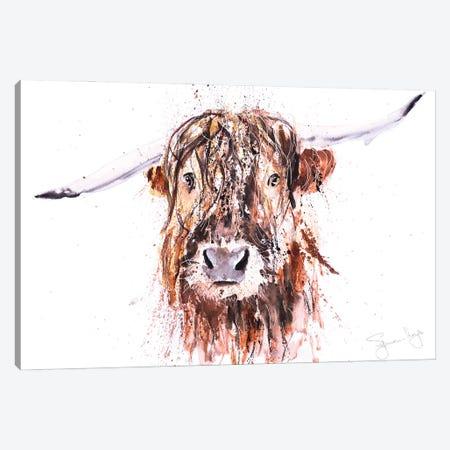 Boris Highland Cow Canvas Print #SYK23} by Syman Kaye Canvas Art Print