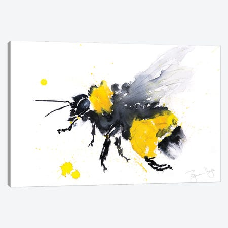 Bumble Bee Busy Canvas Print #SYK24} by Syman Kaye Canvas Artwork