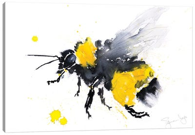 Bumble Bee Busy Canvas Art Print