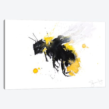 Bumble Bee II Canvas Print #SYK25} by Syman Kaye Canvas Artwork