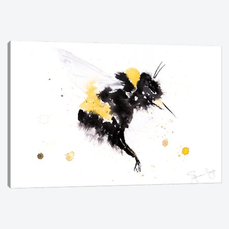 Bumble Bee III Canvas Print #SYK26} by Syman Kaye Canvas Wall Art