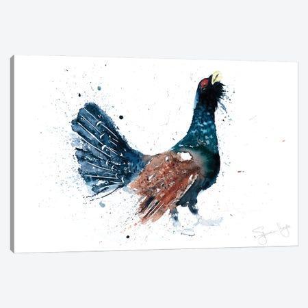 Capercaillie Cock A Hoot Too Canvas Print #SYK29} by Syman Kaye Canvas Art Print