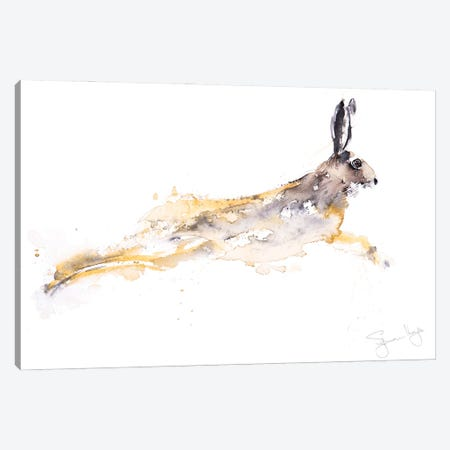 Chancer Hare Canvas Print #SYK30} by Syman Kaye Canvas Wall Art