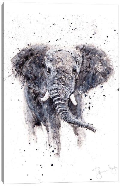 Elephant II Sepia Canvas Art Print