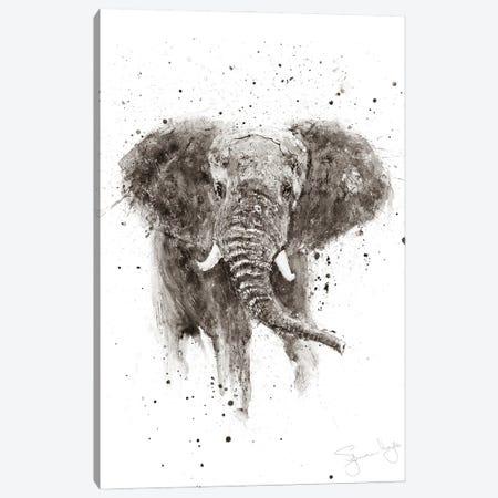 Elephant II Sepia II Canvas Print #SYK38} by Syman Kaye Canvas Art