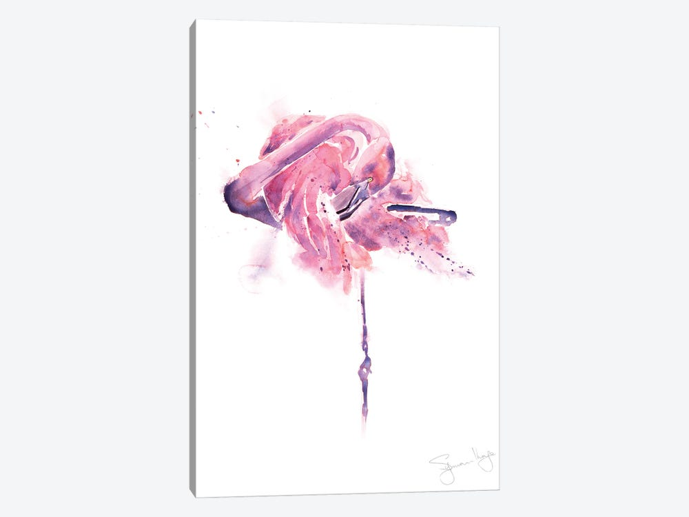 Flamingo Preening Flamingo I by Syman Kaye 1-piece Canvas Art Print