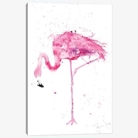 Flamingo Stepping Out II Canvas Print #SYK44} by Syman Kaye Canvas Artwork