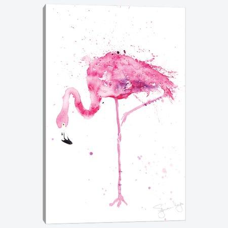 Flamingo Stepping Out II Canvas Print #SYK44} by Syman Kaye Canvas Artwork