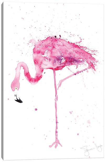 Flamingo Stepping Out II Canvas Art Print