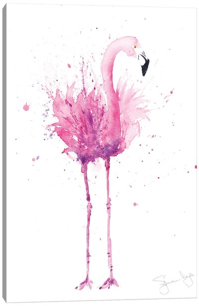 Flamingo Stepping Out III Canvas Art Print