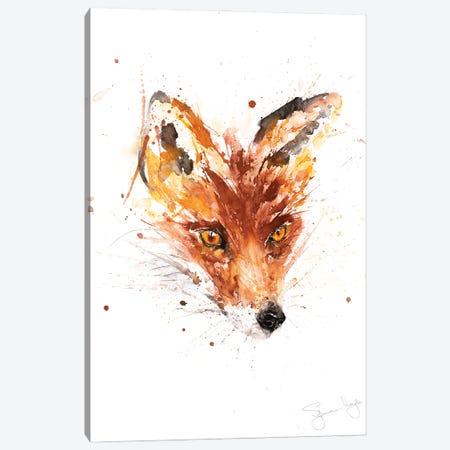 Flower Fox Canvas Print #SYK47} by Syman Kaye Canvas Art