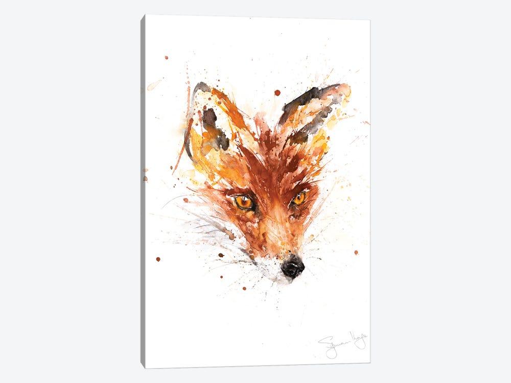 Flower Fox by Syman Kaye 1-piece Canvas Art Print