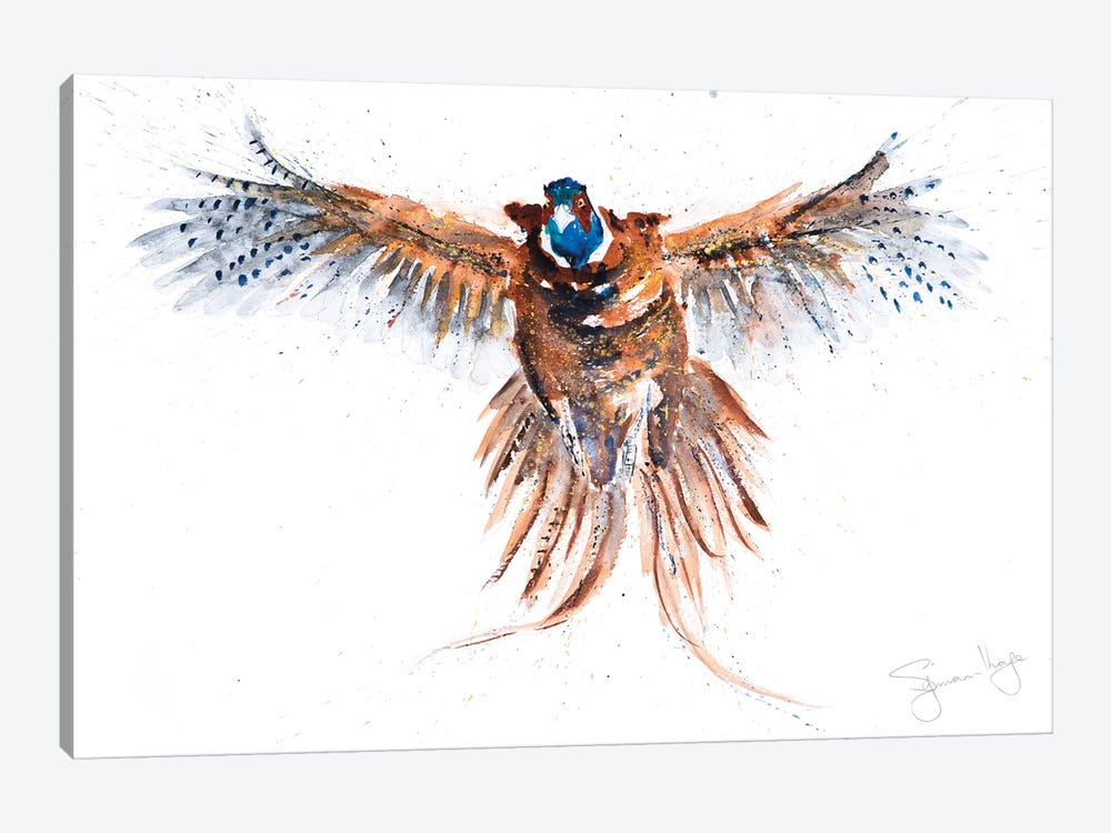 Flushed Pheasant II by Syman Kaye 1-piece Canvas Art