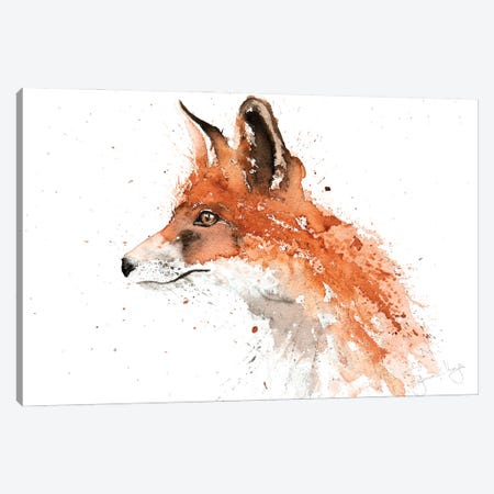 For II Fox Canvas Print #SYK51} by Syman Kaye Canvas Artwork