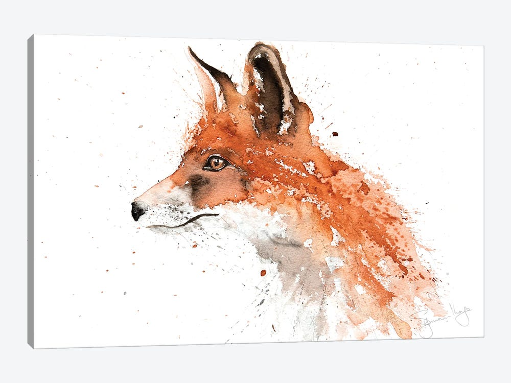 For II Fox by Syman Kaye 1-piece Canvas Art