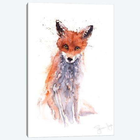 Fox Full Body Sitting Canvas Print #SYK52} by Syman Kaye Canvas Artwork