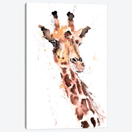 Giraffe I Canvas Print #SYK54} by Syman Kaye Canvas Art Print