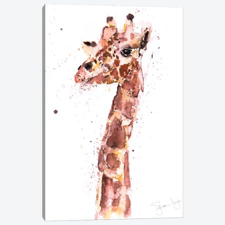 Giraffe II Canvas Print #SYK55} by Syman Kaye Canvas Art Print