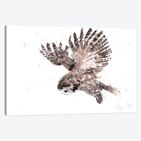 Great Grey Owl Canvas Print #SYK58} by Syman Kaye Canvas Artwork