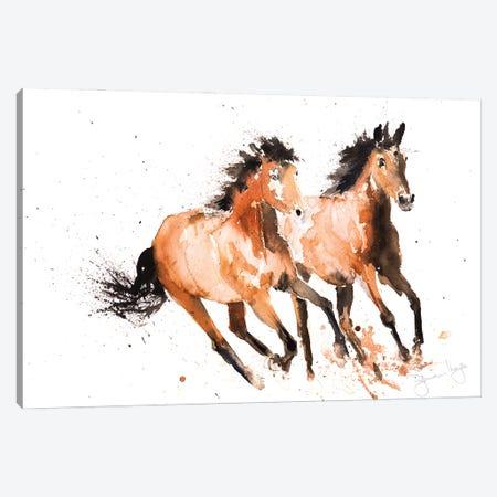 Horse Wild Horses Canvas Print #SYK73} by Syman Kaye Canvas Wall Art