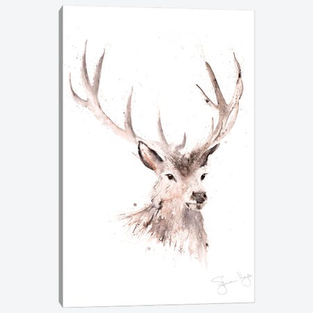 Just A Boy Stag Canvas Print #SYK78} by Syman Kaye Canvas Wall Art
