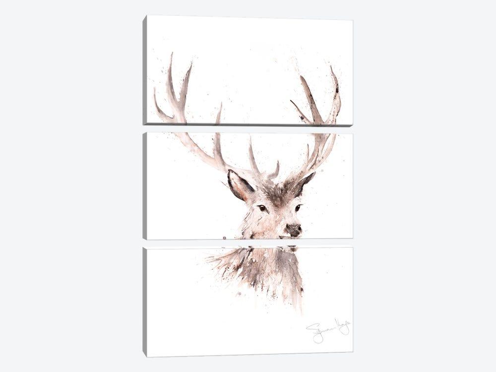 Just A Boy Stag by Syman Kaye 3-piece Canvas Art Print