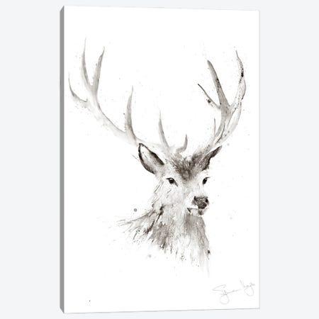 Just A Boy Stag II Canvas Print #SYK79} by Syman Kaye Canvas Artwork