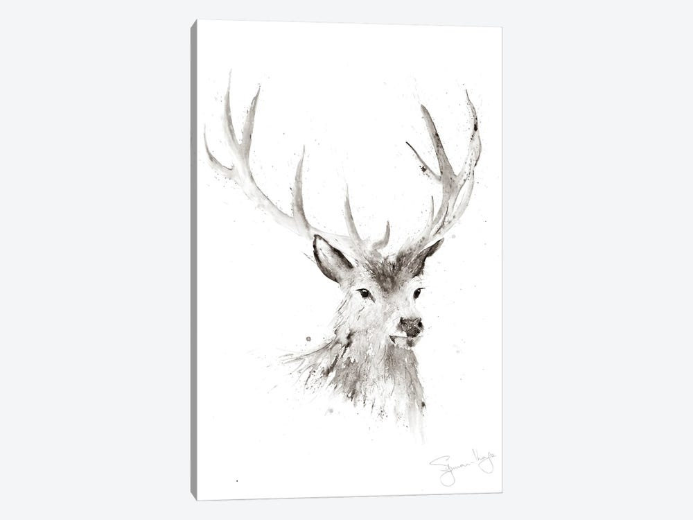 Just A Boy Stag II by Syman Kaye 1-piece Canvas Wall Art