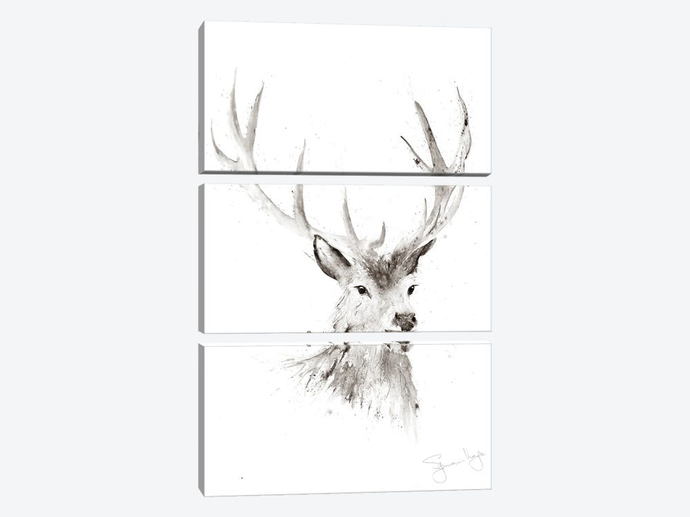 Just A Boy Stag II by Syman Kaye 3-piece Canvas Art