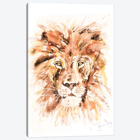 Lion I Canvas Print #SYK84} by Syman Kaye Canvas Artwork