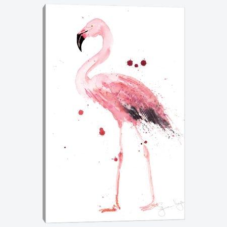 Mingo Flamingo Canvas Print #SYK85} by Syman Kaye Canvas Wall Art